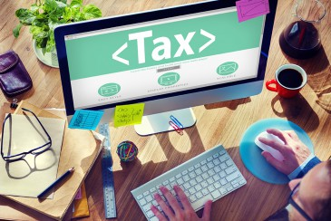 Digital Online Tax Payment Policy Office Concept